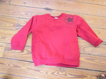 Pull rouge Verbaudet 4 ans